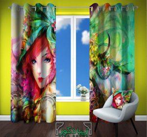 پرده اتاق نوجوان - دخترانه