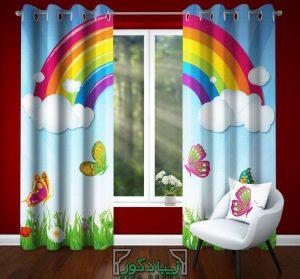 پرده اتاق کودک و نوزاد - رنگین کمان
