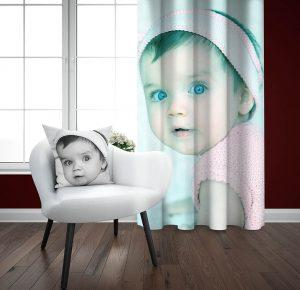 پرده چاپی طرح کودک