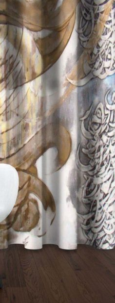 پرده چاپی طرح نقاشی خط